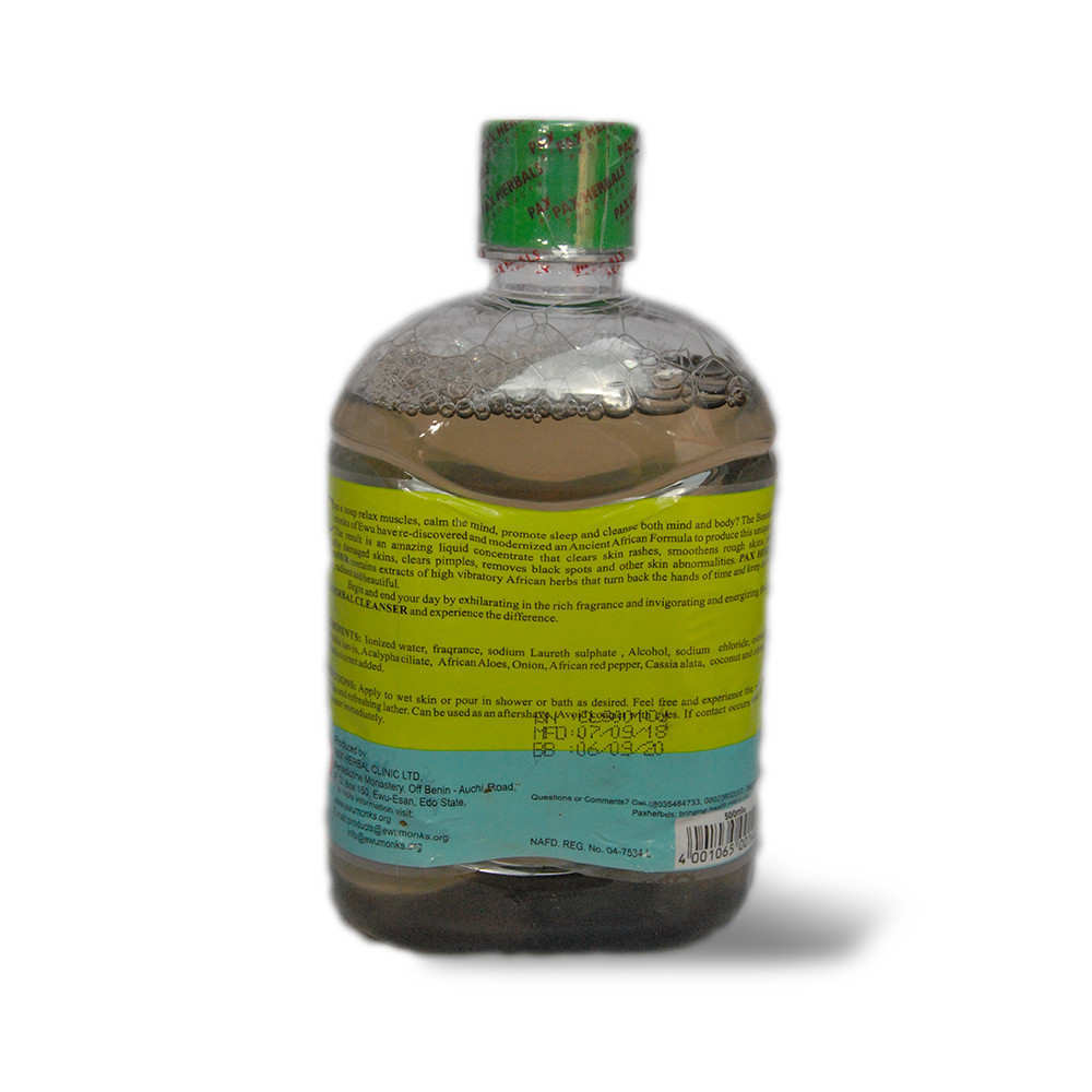 Paxherbals Cleanser product Image back view
