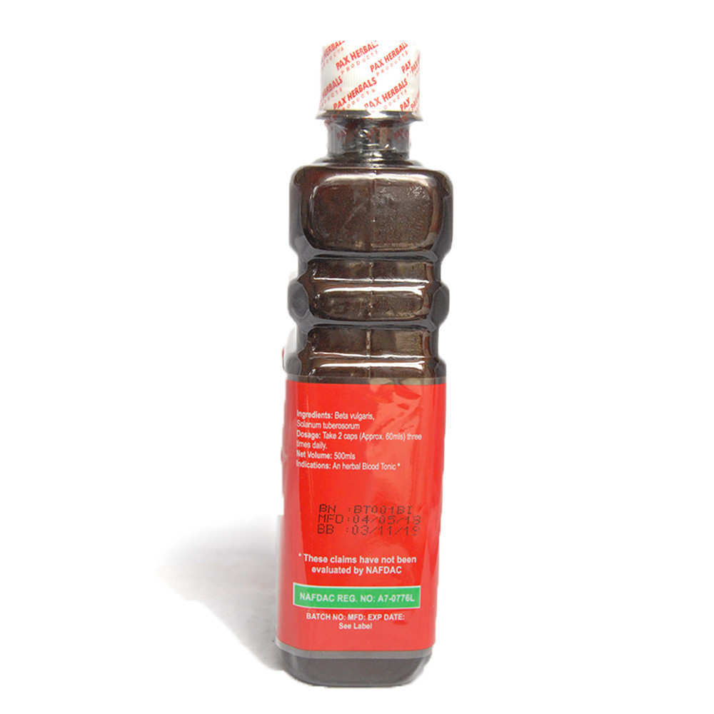 Paxherbal Blood Tonic product image side view - Use: herbal blood tonic