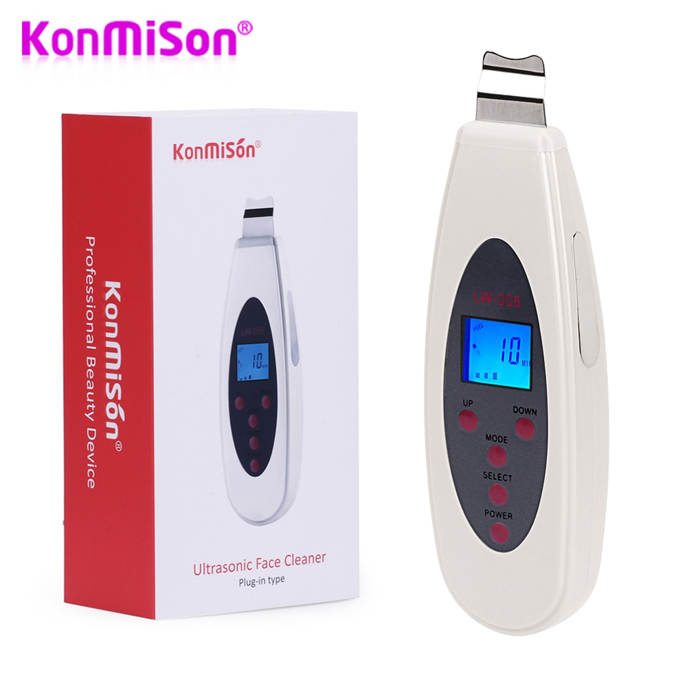 Konmison Ultrasonic Skin Scrubber Cleanser Face Cleansing Acne Removal Facial Massager Ultrasound Peeling Clean Tone Lift 1