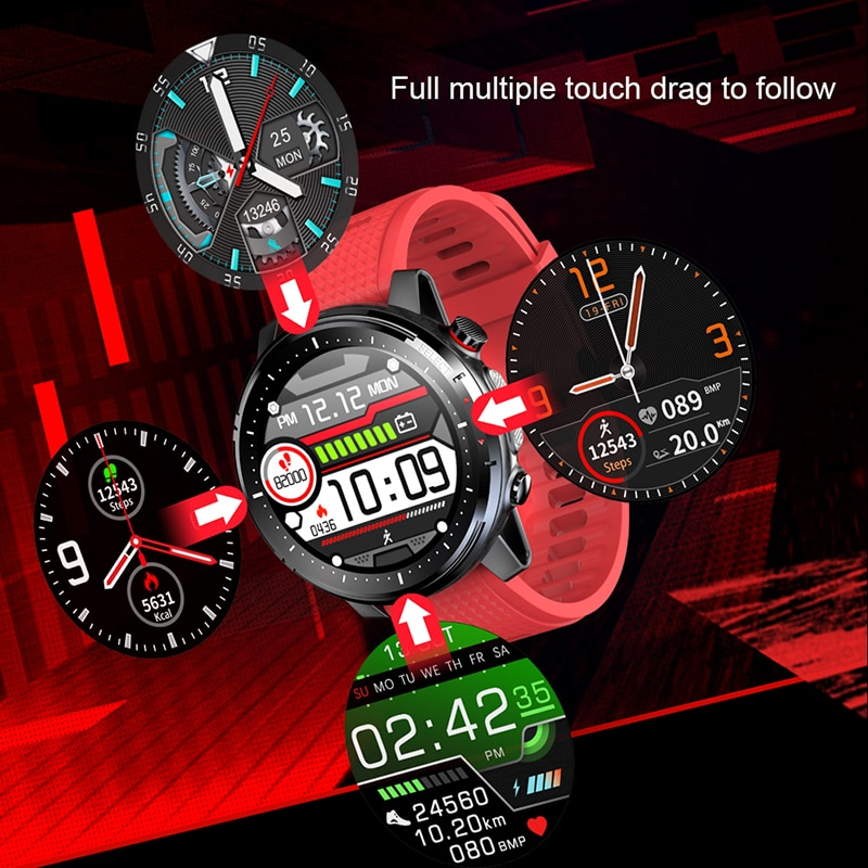 2021 Full touch Smart Watch Men Sports Clock IP68 Waterproof Heart Rate Monitor Smartwatch for IOS Android phone 4