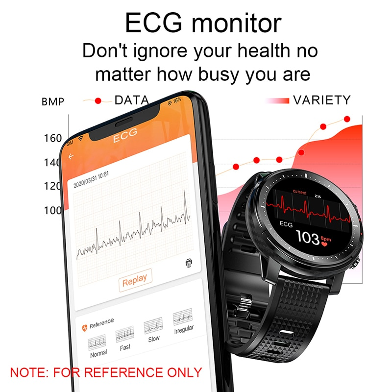 2021 Full touch Smart Watch Men Sports Clock IP68 Waterproof Heart Rate Monitor Smartwatch for IOS Android phone 3